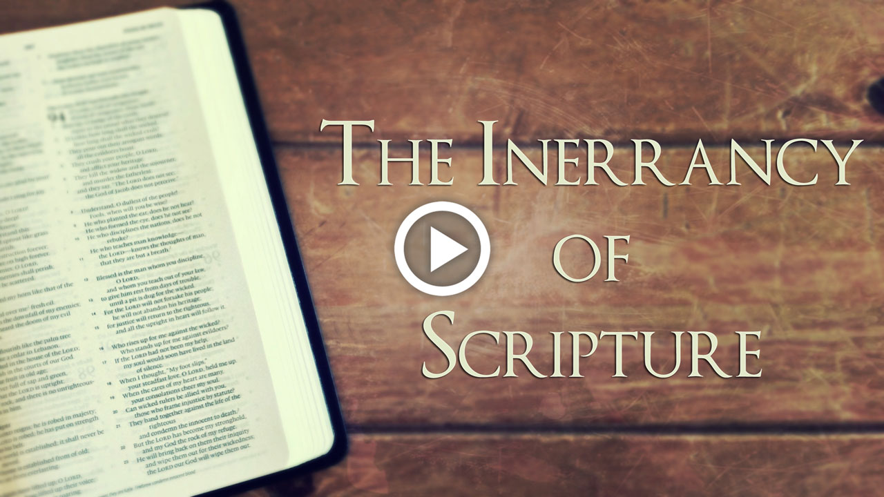 inerrancy of scripture Back in 1978, when i was a wee lad, more than 200 men gathered in chicago to  discuss modern conceptions of biblical inerrancy through.